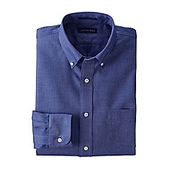 Lands' End - Blue traditional fit no iron oxford shirt