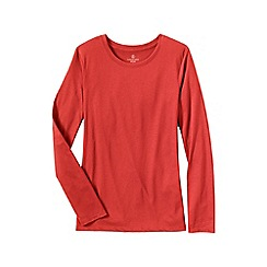 Lands' End - Orange crewneck tee