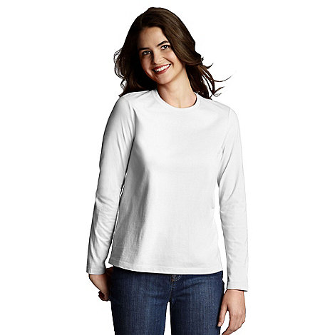 Lands+ End - White Crewneck Tee