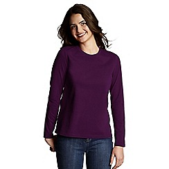 Lands' End - Purple crewneck tee