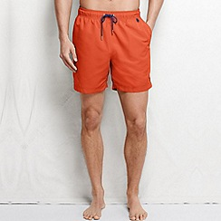 Lands' End - Orange men's plain swim shorts