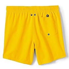Lands' End - Yellow plain swim shorts