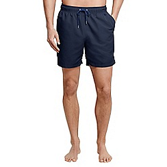 Lands' End - Blue men's plain swim shorts