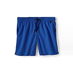 Lands' End - Blue plain swim shorts