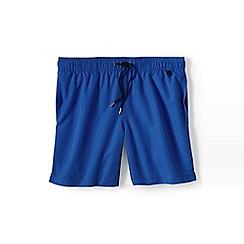Lands' End - Blue plain swim shorts
