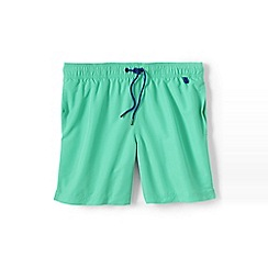 Lands' End - Green plain swim shorts