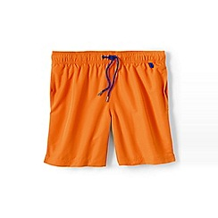 Lands' End - Orange plain swim shorts