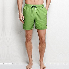 Lands' End - Green men's plain swim shorts