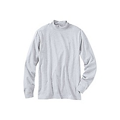 Lands' End - Grey super tee polo neck