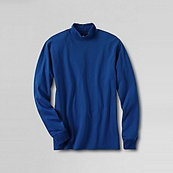 Lands' End - Blue super tee polo neck