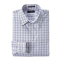 Lands' End - White men's tailored fit patterned non-iron pinpoint