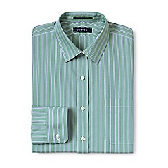 Lands' End - Green straight collar easy-iron pinpoint shirt