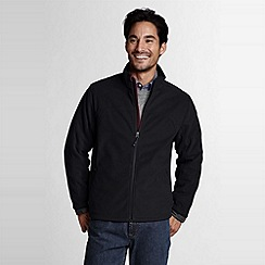 Lands' End - Black men's tall polartec windbloc marinac jacket