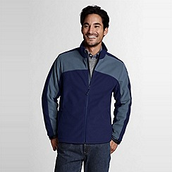 Lands' End - Blue men's tall polartec windbloc marinac jacket