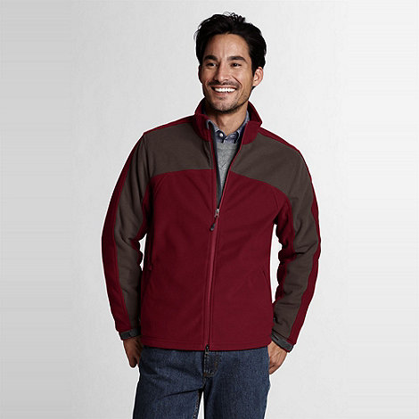 Lands+ End - Red men+s tall polartec windbloc marinac jacket
