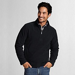 Lands' End - Black polartec aircore 100 half-zip fleece
