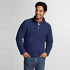 Lands' End - Blue polartec aircore 100 half-zip fleece