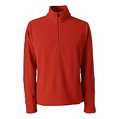 Lands' End - Orange polartec aircore 100 half-zip fleece