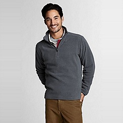 Lands' End - Grey mens regular polartec aircore 100 half-zip fleece