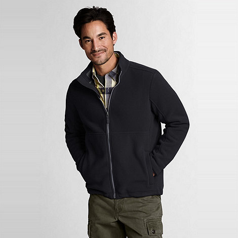 Lands+ End - Black men+s regular polartec aircore 200 jacket