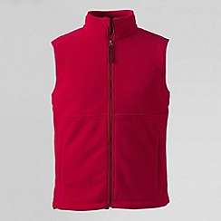 Lands' End - Red men's polartec aircore 200 fleece gilet