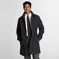 Lands' End - Wool Patterned Topcoat