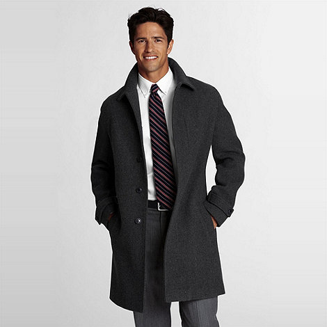 Lands+ End - Wool Patterned Topcoat