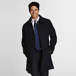 Lands' End - Black Wool Topcoat