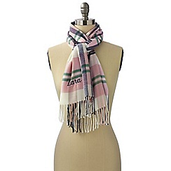 Lands' End - Purple women's cashtouch plaid scarf