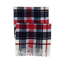 Lands' End - Blue women's cashtouch plaid scarf