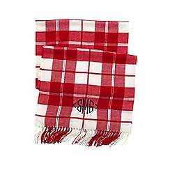 Lands' End - Orange women's cashtouch plaid scarf