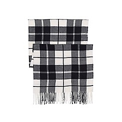 Lands' End - Black women's cashtouch plaid scarf