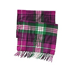 Lands' End - Green women's cashtouch plaid scarf