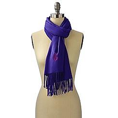Lands' End - Purple  cashtouch windowpane scarf