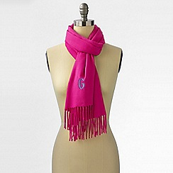 Lands' End - Pink women's cashtouch windowpane scarf