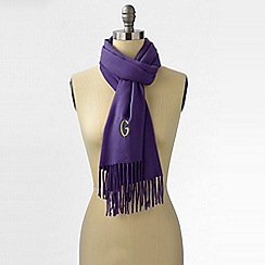 Lands' End - Purple women's cashtouch windowpane scarf