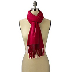 Lands' End - Red  cashtouch windowpane scarf