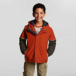 Lands' End - Orange boys' squall waterproof jacket
