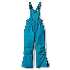Lands' End - Girls' blue waterproof snow salopettes