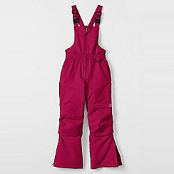 Lands' End - Pink girls' waterproof snow salopettes