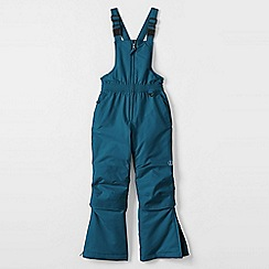 Lands' End - Blue girls' waterproof snow salopettes