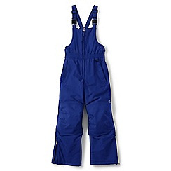 Lands' End - Boys' blue waterproof squall snow salopettes