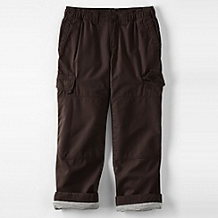 Lands' End - Brown little boys' iron knee lined ripstop cargo trousers