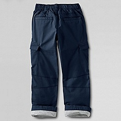 Lands' End - Blue boys' iron knee lined ripstop cargo trousers