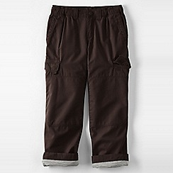 Lands' End - Brown boys' iron knee lined ripstop cargo trousers