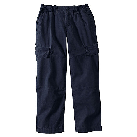 Lands+ End - Blue boys+ iron knee ripstop trousers