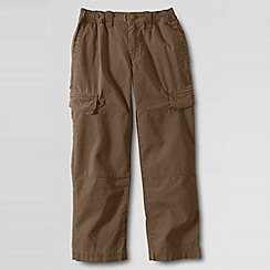 Lands' End - Beige boys' iron knee ripstop trousers