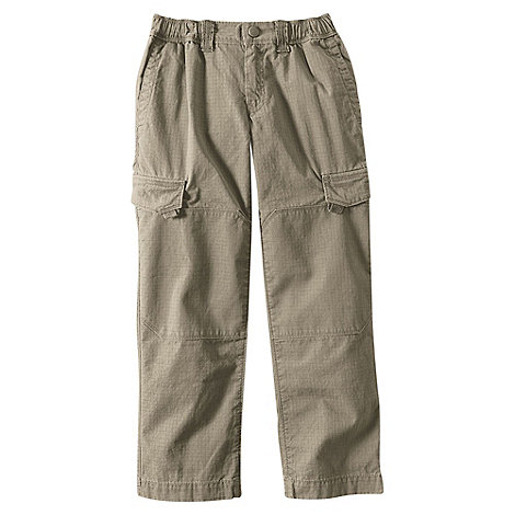 Lands+ End - Beige boys+ iron knee ripstop trousers