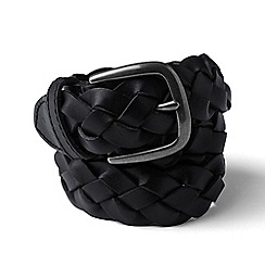 Lands' End - Black leather braided belt