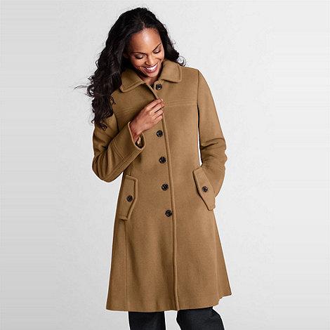 Lands+ End - Brown Luxe Wool Coat